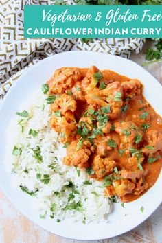 Butter Chicken is a popular Indian dish. And for good reason, the sauce is incredible! In this Cauliflower Curry recipe, we're keeping that same delicious sauce, but ditching the chicken to make a vegetarian dish. Be sure to serve a piece of naan on the side for dipping up any extra scrumptious sauce!  This recipe is gluten free and easily made vegan. If you love my Butter Chicken recipe, then you're definitely going to love this vegetarian spin on the dish!