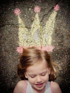 22 Totally Awesome Sidewalk Chalk Ideas - Crowned Princess Chalk Art