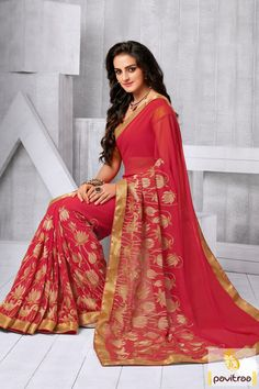 Show fantastic charm everyone by wearing fashionable red color chiffon party wear saree online shopping at lowest price in India. Buy online designer embroidery saree at best price. #partywearsaree, #partysaree, #designerpartysaree, #chiffonpartysaree, #designersaree, #embroiderypartysaree, #discountoffer, #pavitraafashion, #utsavfashion, #onlinesareeshopping, #printedpartysaree http://www.pavitraa.in/store/embroidery-saree/ callus:+91-7698234040