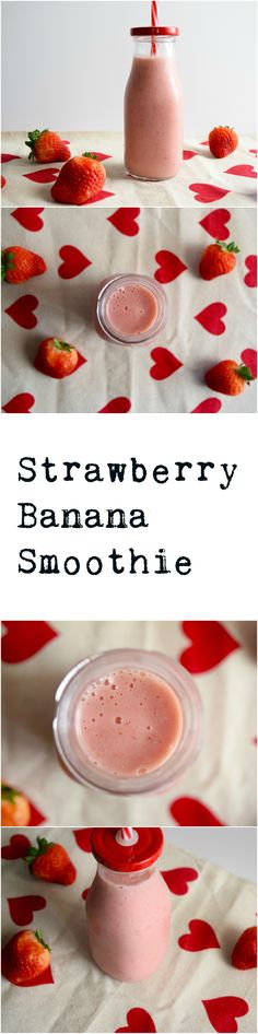 The strawberry banana smoothie is a simple favorite. This vegan recipe has the perfect proportions and stellar flavor.
