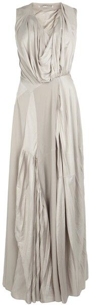 I love the subtle difference in fabrics and texture.  Allsaints Beige Heather Maxi Dress