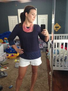 June Stitch Fix Review # 3 - Under Skies Aiden Embroidered Hem Woven Top http://whittneyhills.blogspot.com