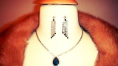 Vintage Black and White Crystal Necklace and by KittyHawVintage, $26.00