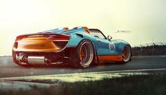 Porsche 918 gone wild by Yasid , via Behance