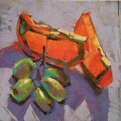 Noon Break by Jennifer Evenhus, Pastel, 6 x 6 Pastel Drawing, Pastel Art, Oil Pastel Paintings, Acrylic Pouring Art, Food Painting, Painter Artist, Still Life Art, Chalk Art, Drawings