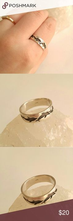 Vintage Sterling Dolphin ring .925 silver size 9 Vintage 90s leaping dolphin band ring - size 9 - solid sterling silver - light surface wear and age patina - stamped 925 inside band - from a smoke free home :)  BEEg8988ring888 Vintage Jewelry Rings