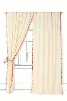 SO cute. curtains from anthro $88