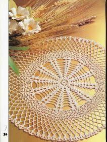 Crochet Mandala Pattern, Crochet Doilies, Crochet Diagram, Crochet Home, Crochet Projects, Projects To Try, Ideas, Decor, Albums