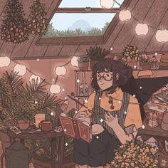tintinnabulation, an art print by Prinsomnia Aesthetic Anime, Aesthetic Art, Pretty Art, Cute Art, Anime Chibi, Anime Art, Witch Art, Grafik Design, Cartoon Art