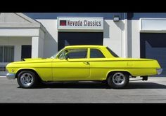 """1962 Chevrolet Biscayne Restomod 400 CI """"Super Chevy"""" For Sale - Yellow Classic Hot Rod, Classic Cars, Chevy For Sale, Classic Chevy Trucks, Sports Car Racing, All Cars, Chevrolet Impala, Car Car, Bel Air"""