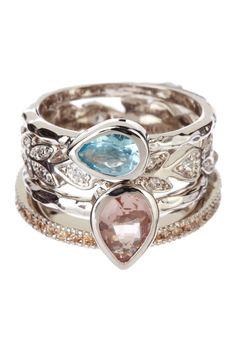 Chloe & Theodora  Garland Ring Set