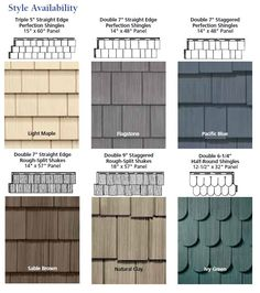 Come see our Vinyl Shake Siding It looks just like cedar shakes:                                                                                                                                                      More