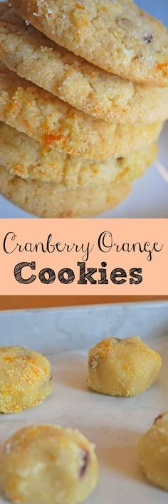 Cranberry Orange Cookies - I make these every Christmas! They are so delicious! Cranberry Orange Cookies - I make these every Christmas! They are so delicious! Cookie Desserts, Just Desserts, Cookie Recipes, Delicious Desserts, Dessert Recipes, Yummy Food, Tea Cakes, Holiday Baking, Christmas Baking