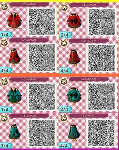Animal Crossing: New Leaf: ULTIMATE GOTHIC HALLOWEEN OUTFITS COLLECTION- Animal Crossing: New Leaf QR Codes !!