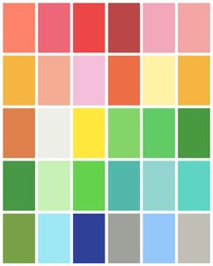 The Spring Color Palette is warm and fresh #coloranalysis