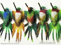 3D Beaded Bird Mobile : Hummingbird Mobile / by AlulaCreations