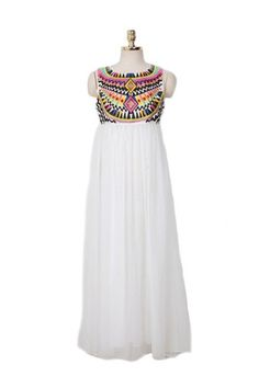 Life Changer Embroidered Maxi Dress - White