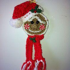 Crochet Christmas ornament - gingerbread man. My own design.