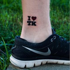 """I Heart TK"" by Justin Sims of Iron Brush tattoo in Lincoln Nebraska. Story behind it in the comments."