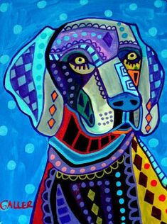 11x14 pop art dog DOG PRINT Pop Art Colorful by HeatherGallerArt, $24.00