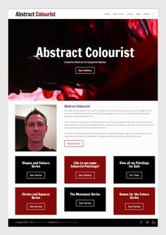 Abstract Colourist Colourful Abstract Art by James Mackie