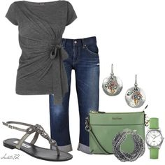 Casual Capris by christa72 on Polyvore featuring AG Adriano Goldschmied, MaxMara, Silpada, Jigsaw, Timex and Steve Madden