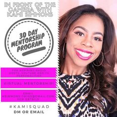 30 Day Mentorship With #KamiSquad  Wanna give a HUGE shoutout to @_kami_simmons_ who for the New Year is offering a 30 Day Virtual Mentorship for aspiring media personalities (Radio Hosts YouTubers Multimedia Journalists etc.). This is an opportunity to get some insight from an established resource figure out the day to day responsibilities that make one successful in this industry & ultimately learn from a woman who KNOWS HER STUFF!  #opportunity #development #mentorship #mediacareer…