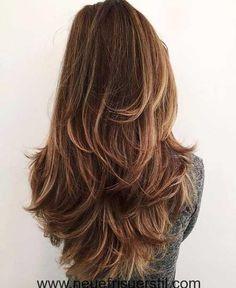 #Lange Frisuren 2017-Trends Layered Haarschnitte für Damen  #trend #Haar-Make-up #Haarfarbe#2017-Trends #Layered #Haarschnitte #für #Damen