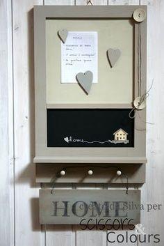 Organizador-anotador pizarra- para colgar llaves