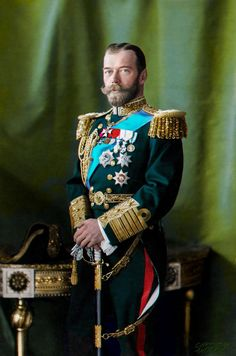 [COLORIZED] Nicholas II The Last Emperor of Russia - photo by Henry Guttmann - circa 1910 - in Alexander palace - Tsar Nicolas, Tsar Nicholas Ii, Saint Nicholas, Czar Nicolau Ii, Military Costumes, Last Emperor, House Of Romanov, Russian Orthodox, Imperial Russia