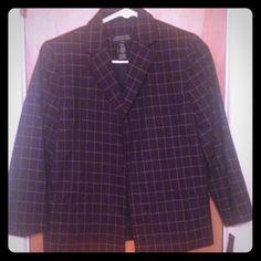 New blazer size s New square print blue   Never wear Jones New York Jackets & Coats Blazers