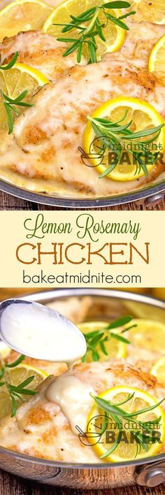 Lemon Rosemary Chicken ~ simple sauteed chicken with bright lemon and aromatic rosemary flavors...and ready in only 30 minutes!