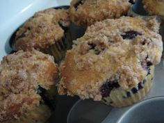 Blueberry muffins.  I used whole wheat flour and put raspberries with the blueberries.  Yum!