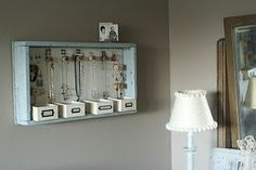 DIY jewelry storage solution. <3 #home #storage #DIY