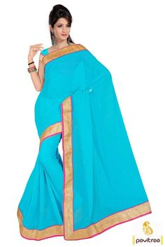 #Turquoise chiffon casual saree online shopping in very cheapest price. This Casual saree is very pretty. Buy this jari work saree and get extra discount now. #printedcasualsaree, #chiffonsareesonlineshopping, #printedchiffonsareesonline, #saree,  #sari, #designersarees, #sareesonline, #sareeonline, #indiansaree,   #onlinesarees, #newsarees, #fashionsarees, #beautifulsaree,    #lowestpricesarees, #discountoffer More Product:   Call Us:+91-7698234040 E-mail: info@pavitraa.in