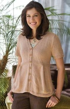 Free knit sweater pattern: Emily Summer Sweater