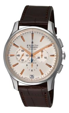 Men's Wrist Watches - Zenith Mens 03211040001c498 El Primero 36000 VPH Silver Sunray Chronograph Dial Watch ** Details can be found by clicking on the image.
