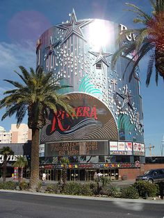 "The Riviera (colloquially, ""the Riv"")  This is where the movie Casino was filled. Stopped at the Riviera earlier this year. Walked up to a video poker machine. Put in a $10.00 bill, pushed deal and was dealt a royal flush! Cashed my ticket and walked out with $1,000 bucks! Vegas baby!"