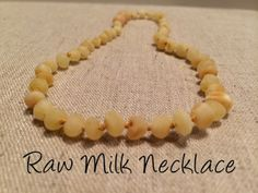 Baltic Amber Teething Necklace Raw Milk Newborn pop clasp 10.5 to 11 inch Infant fever cold red cheeks fussiness drool
