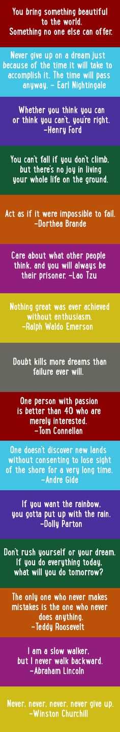 Inspirational & motivational quotes to live by