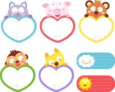 Diy And Crafts, Crafts For Kids, Paper Crafts, Birthday Charts, Kids Background, School Labels, Cute Frames, Circle Labels, Cute Monkey