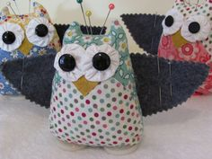 cutest little owl pincushion - might have to make some