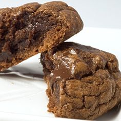 Fudgy Brownie Cookies, using brownie mix! Another pinner said: I've made these 4x now, they seriously are the best cookie ever made, ever, ever.