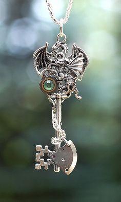 Dragon's Battle Key Necklace - 103