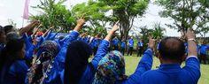 """Outbound Di Bali diisi dengan ice breaking dan peserta mendapatkan clue kata """"Gusti Ngurah Rai"""""""