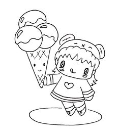 Coloring page valentine ice cream sundae drawsocute for Www drawsocute com coloring pages