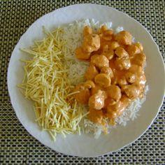 Strognofe Vegetariano De Carne De Soja Com Abobrinha