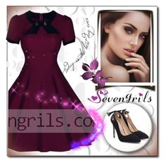 """""""SEVENGRILS.COM 8"""" by ozil1982 ❤ liked on Polyvore featuring vintage"""