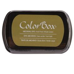 ColorBox Archival Dye Ink Pad, Khaki