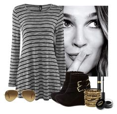 """""""Shhhh! Don't Tell!"""" by armbelggirl ❤ liked on Polyvore featuring Charlotte Russe, Ray-Ban, Amrita Singh and Gucci"""